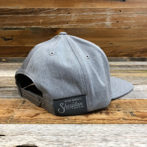 Leather Liberty Patch Flat Bill Hat - Heather Grey