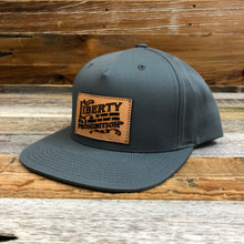 Load image into Gallery viewer, Leather Liberty Patch Flat Bill Hat - Grey