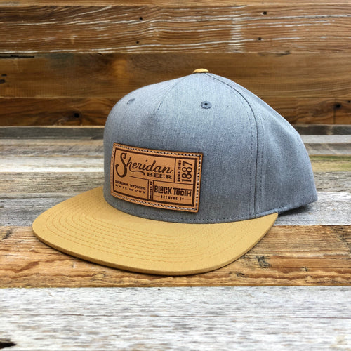 SB Co-Brand Flat Bill Hat - Heather Grey/Gold