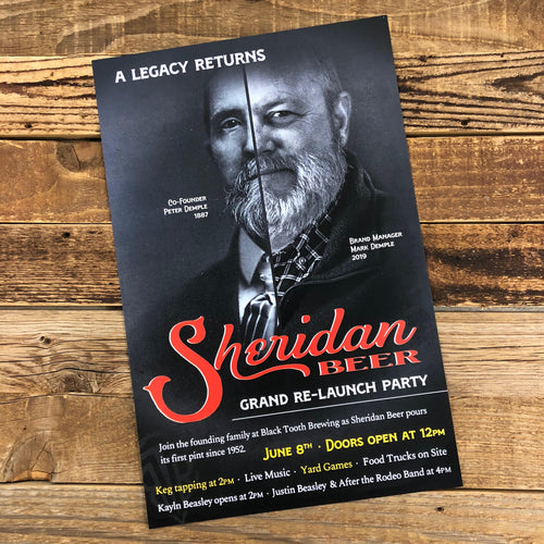 The Original Sheridan Beer Launch Poster