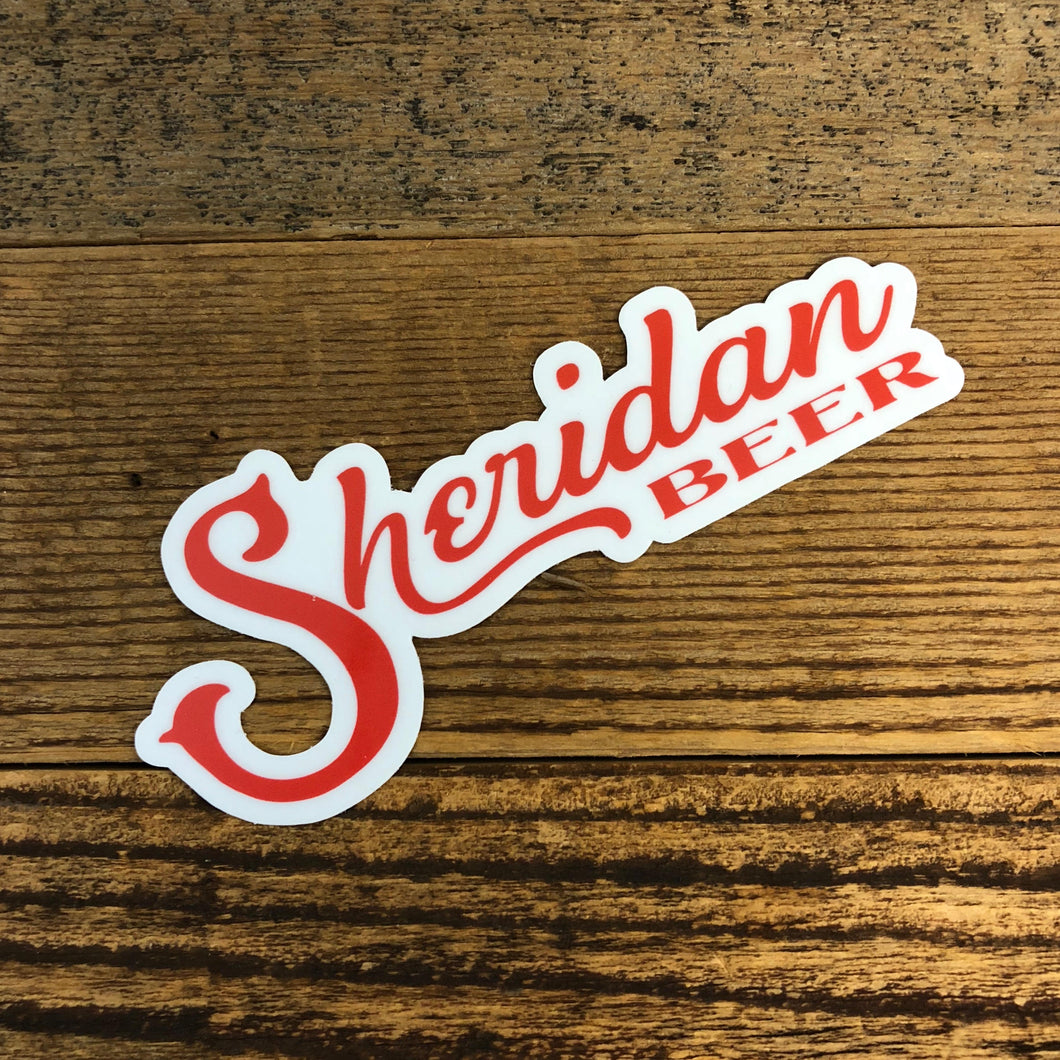 Sheridan Beer Logo Sticker