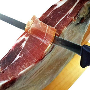 Serrano Ham Bone in from Spain 16-17 lb + Ham Stand + Knife !! | Cured Spanish Ham 24 Mounths - Europea Food