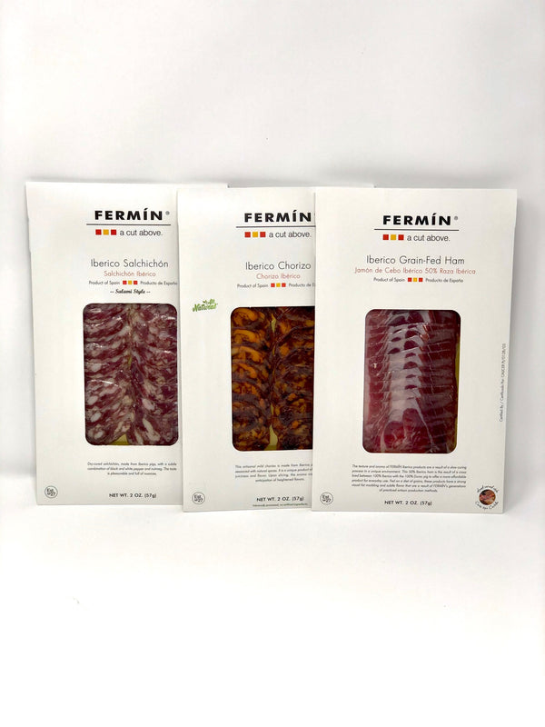 Iberico Trio Pack Sliced - Chorizo (2 oz) + Jamon (2 oz) + Salchichon (2 oz)