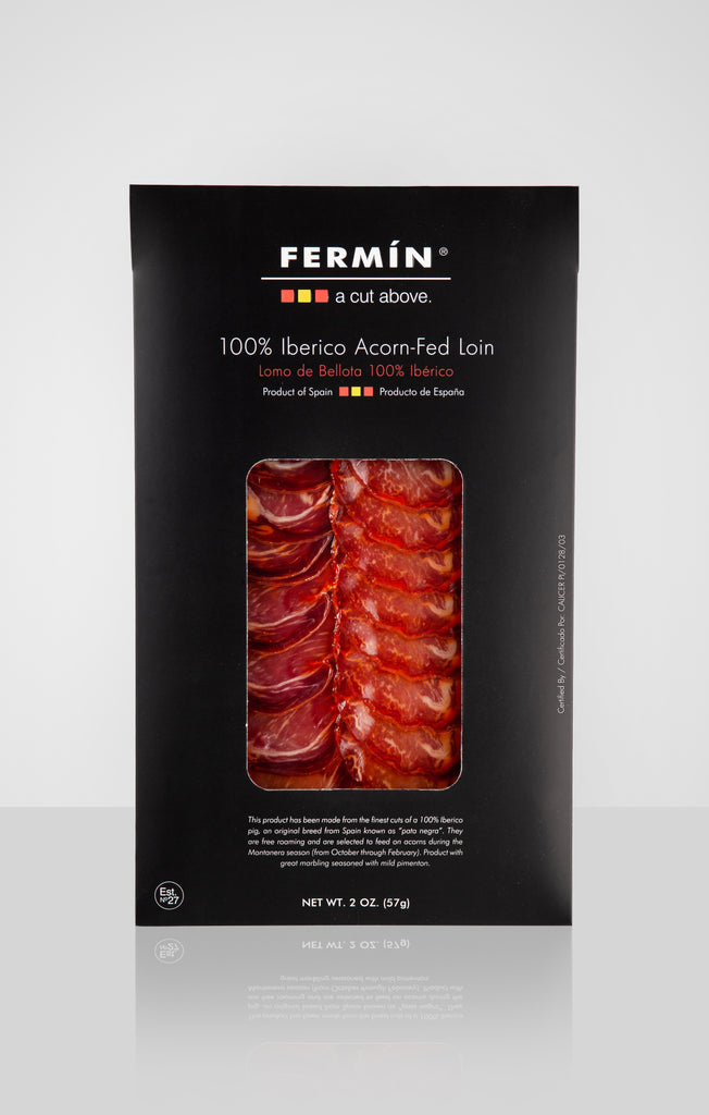 100% Ibérico Acorn-Fed Loin Sliced 2 oz by Fermín