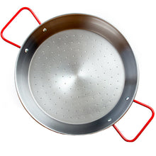 Load image into Gallery viewer, Paellero Garcima 15 Inch Polished Steel Paella Pan - Serves 8 - Europea Food