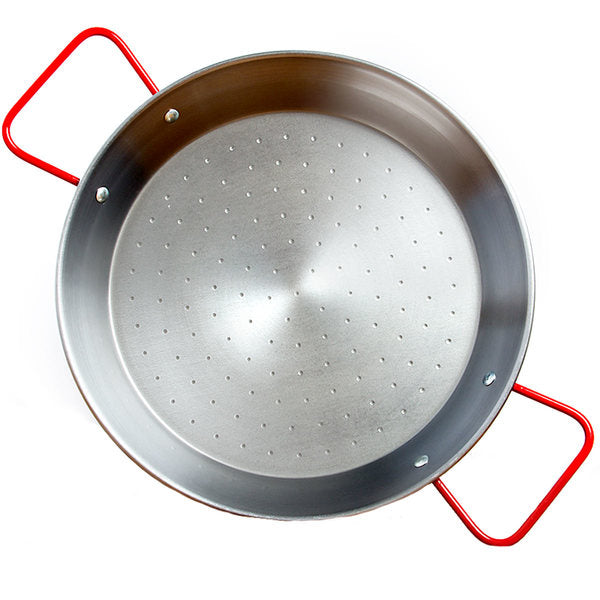 Paellero Garcima 15 Inch Polished Steel Paella Pan - Serves 8 - Europea Food