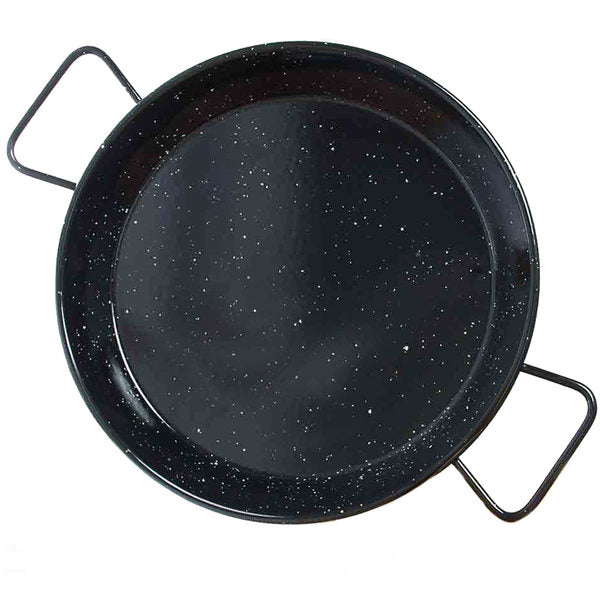 Garcima 14 Inch Enameled Paella Pan - Serves 6 - Europea Food