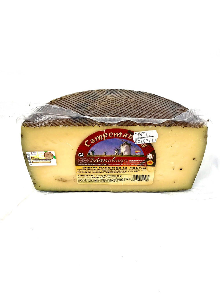 Manchego Cheese 12 months Aged 3.3 lb
