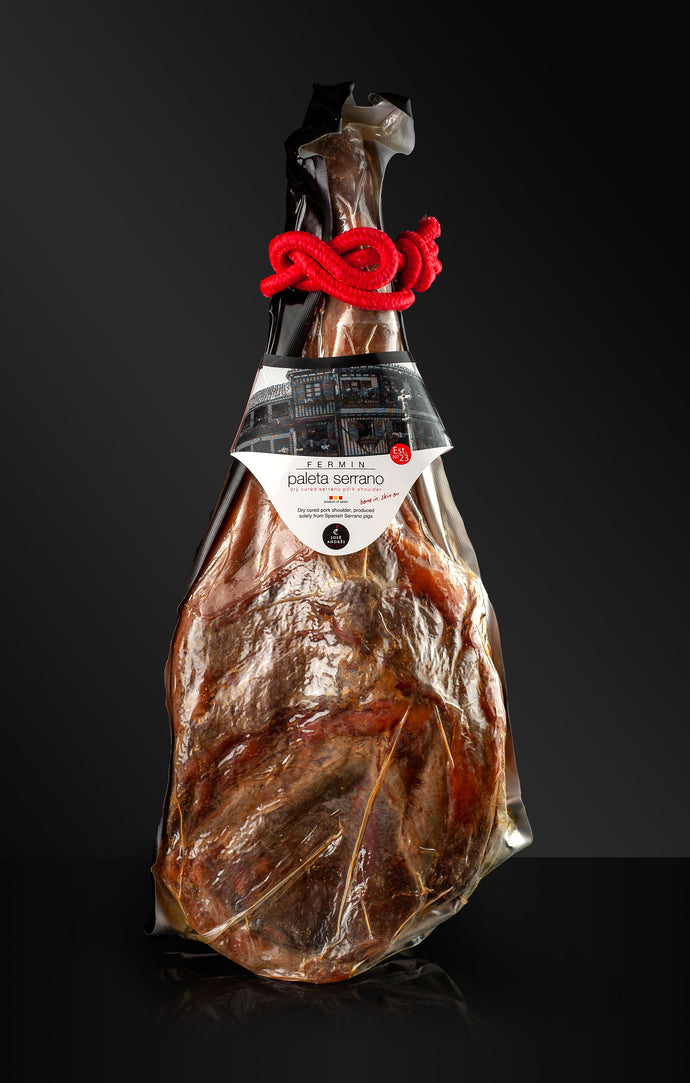 Serrano Ham (shoulder) Bone in - 10 /12 lb - Free Ham Holder & Knife!!