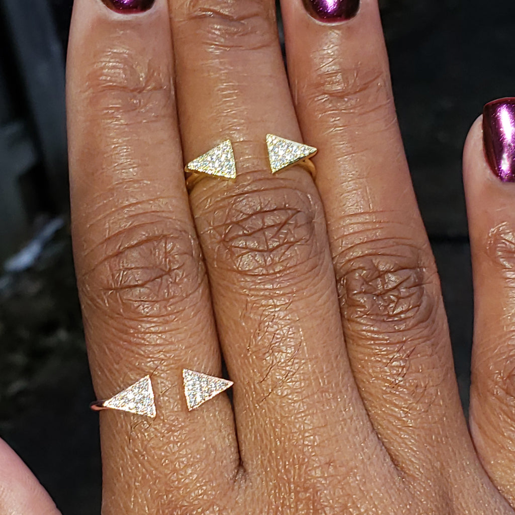baddest bish ever fine jewelry me sooo joli swarovski crystals 14kt gold and rose gold ring in butterfly vibe collection