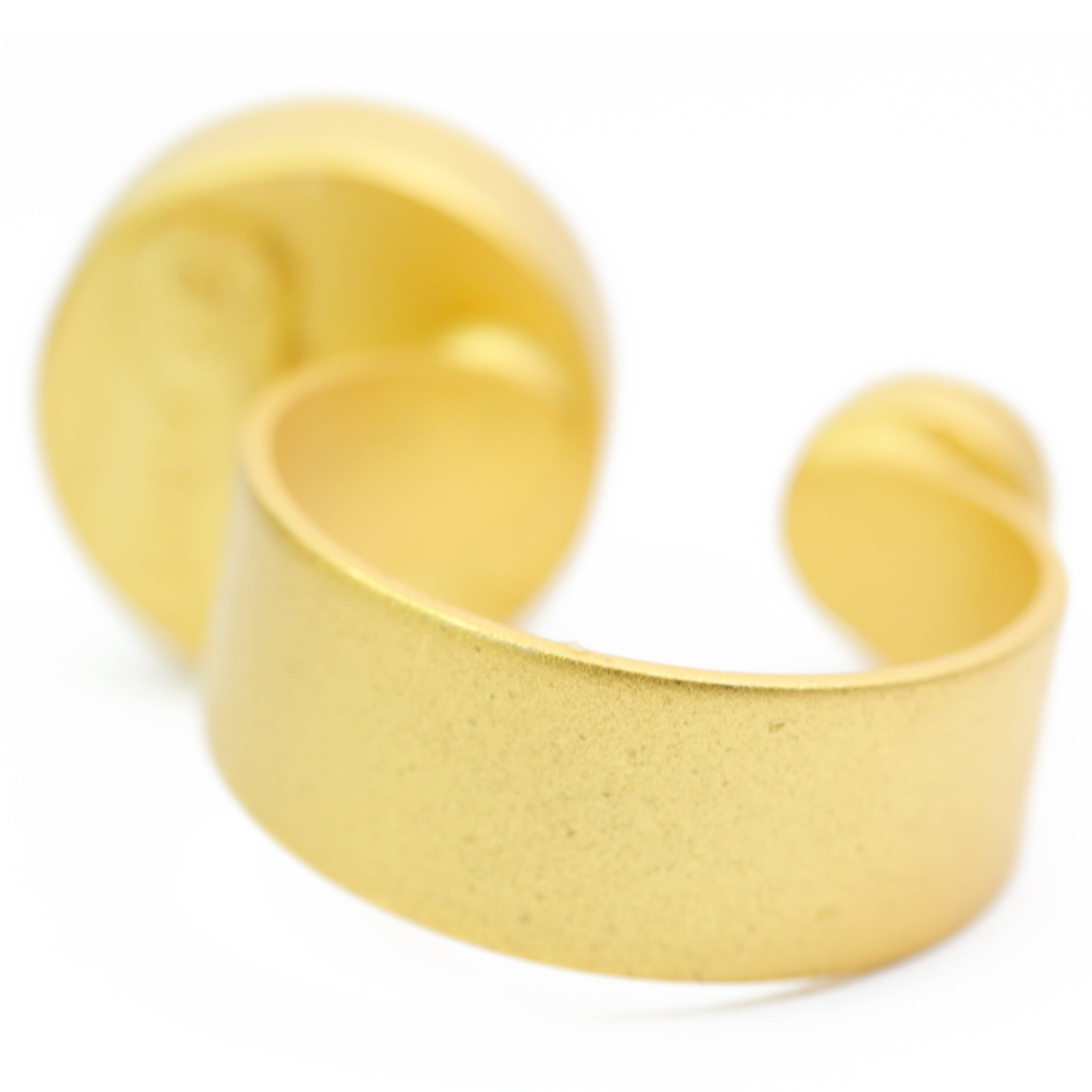 baddest bish ever Puissance Matte 24KT Gold Matte Crystal Ring in royalty collection