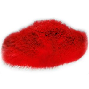 baddest bish ever Flou Poche Fox Fur Luxury Fanny Packs luxury accessories Flou Poche Fox Fur Luxury Juicy Red Fanny Packs