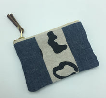 Load image into Gallery viewer, Small Leopard Double Chambray Panel Pouch