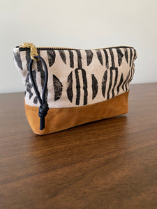 "Sunrise 6"" Zipper Canvas Bottom Pouch"