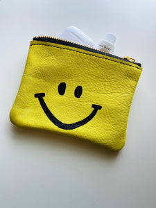 Smiley Leather Pouch