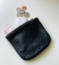 Load image into Gallery viewer, Black Perforated Leather Pouch