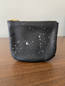 Galaxy Black Leather Pouch