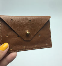 Load image into Gallery viewer, Perforated Leather Card Case