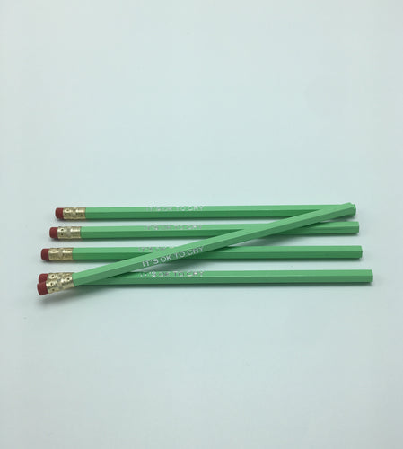 It's Ok To Cry Pencils in Mint