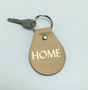 HOME Leather Key Fob