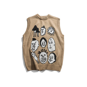 Cartoon Sweater Vest
