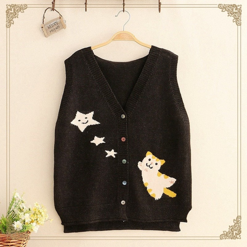 The Star Cat cardigan vest