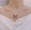 Crystal Glass Butterfly Necklace
