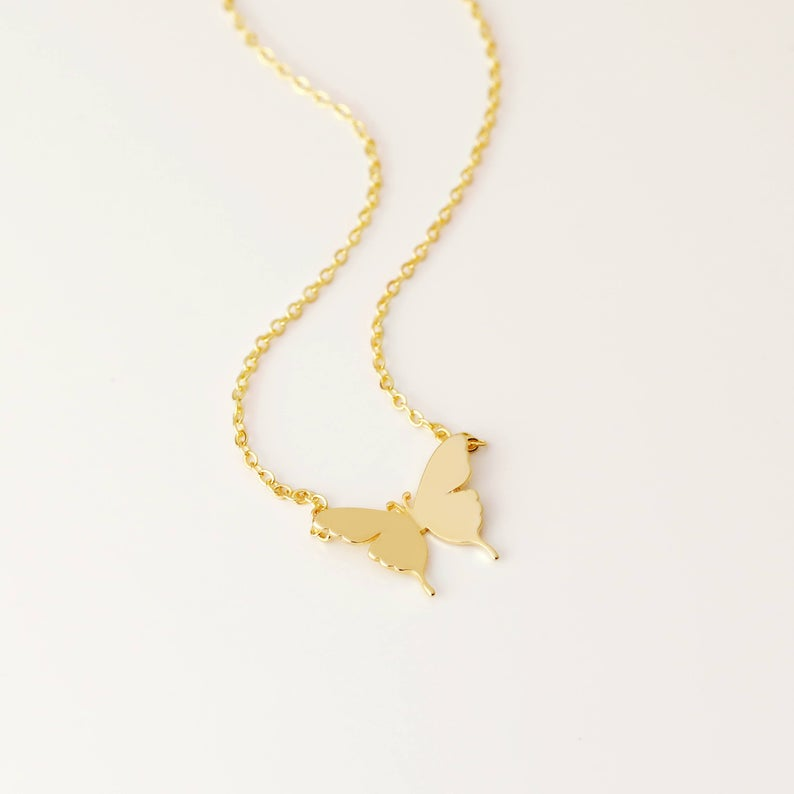 Butterfly Necklace With Initial