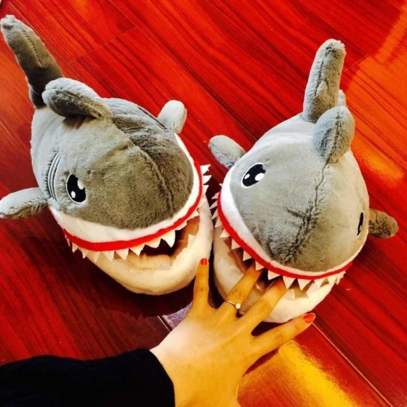 Warm Winter Shark Slippers