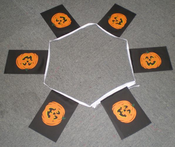 Halloween Pumpkin Fabric Bunting