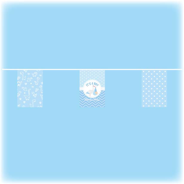 Baby shower bunting - boys