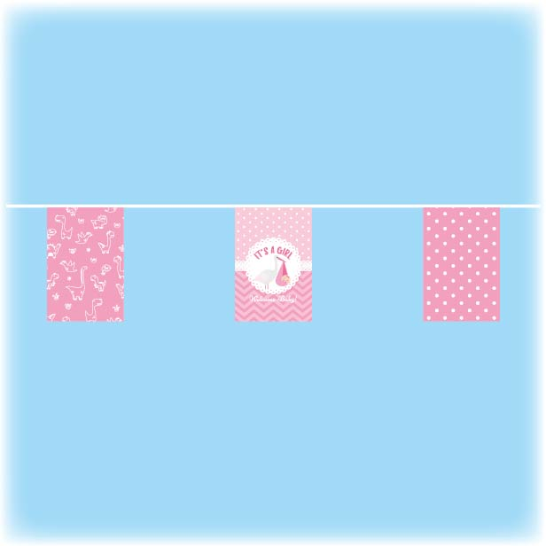 Baby shower bunting - Girls