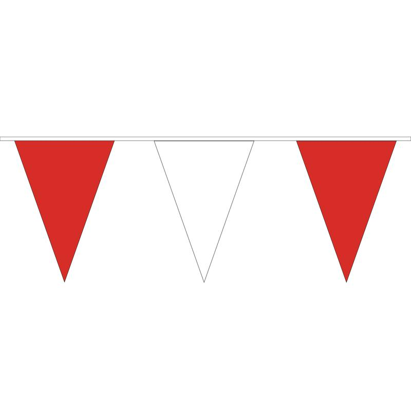 Red & White PVC Bunting - 10 metres