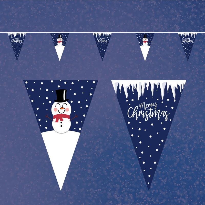 Christmas Snowman Bunting - 10 metres