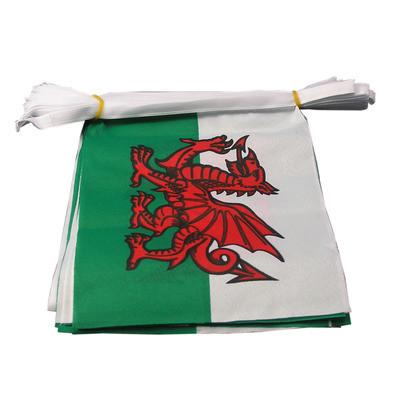 Wales/Welsh Dragon Fabric Bunting - 6 metres