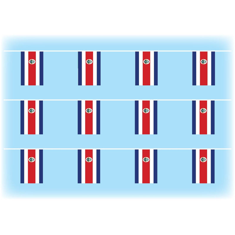 Costa rica flag bunting