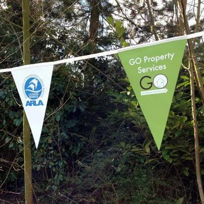 Bespoke Printed PVC Bunting - A4 Triangles