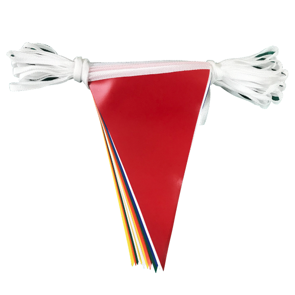 Multicoloured PVC Bunting - 10 metres