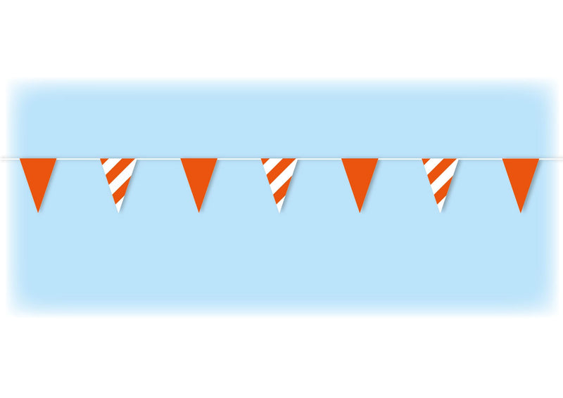 Orange Safety Bunting - 10 metres
