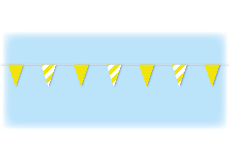 Yellow Safety Bunting - 10 metres