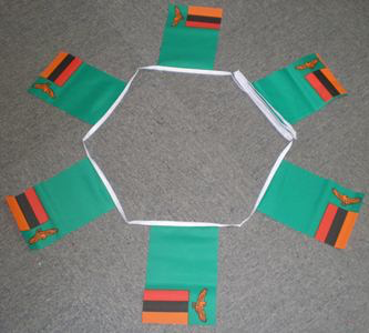 6m 20 Flag Zambia Bunting