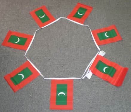 6m 20 Flag Maldives Bunting