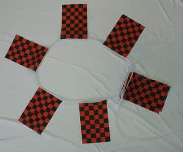 6m 20 Flag Red/Black Checkered Bunting