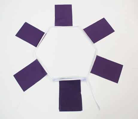 6m 20 Flag Purple Bunting