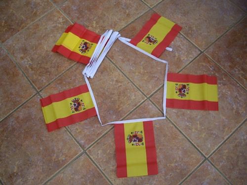6m 20 Flag Spain State Bunting