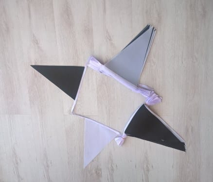 Black/White Triangle Bunting - 20 metres