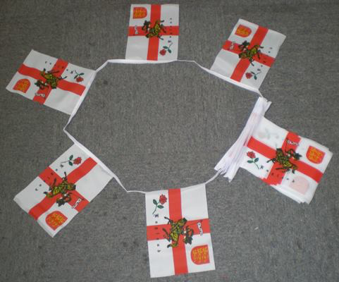English Rose Lion Bunting - 6 metre