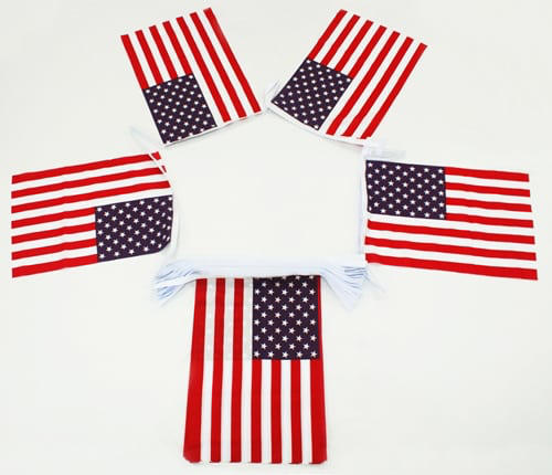 USA, Stars & Stripes Bunting - 20 metres
