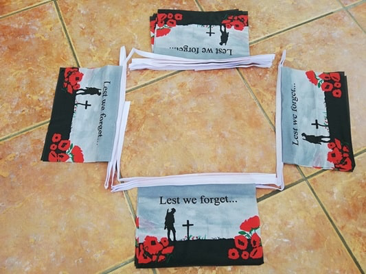 Lest We Forget Bunting - 6 metres