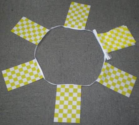6m 20 Flag Yellow/White Checkered Bunting